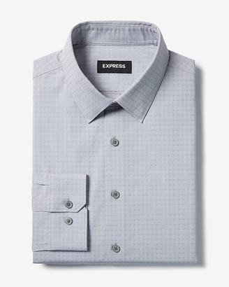 Express Extra Slim Diamond Print Cotton Stretch 1Mx Dress Shirt