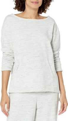 b new york Women's Eco BCI Long Sleeve Raw Edge Sweatshirt