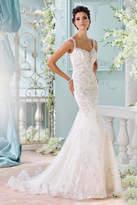 David Tutera for Mon Cheri Backless Wedding Gown