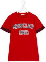 Moncler logo print T-shirt - kids - Cotton - 14 yrs