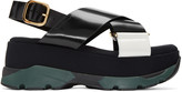 Marni Black Platform Crossover Sandals