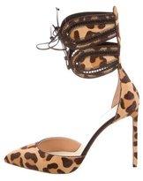 Francesco Russo Ponyhair Leopard Pumps w/ Tags