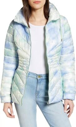Bernardo Packable Hooded EcoPlume Fill Puffer Coat