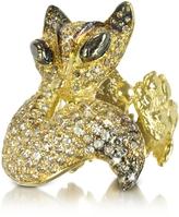Bernard Delettrez Gold and Cognac Diamonds Fox Ring