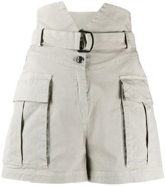 Pinko High Waisted Utility Shorts