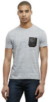 Kenneth Cole T-Shirt With Faux Leather Patch Pocket