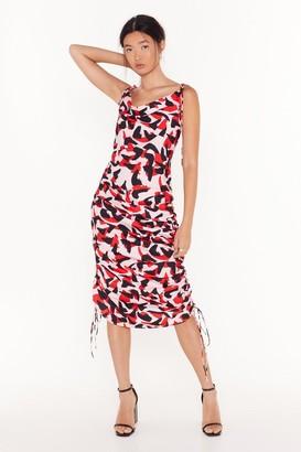 Nasty Gal Womens So Bold Abstract Midi Dress - Pink - 8