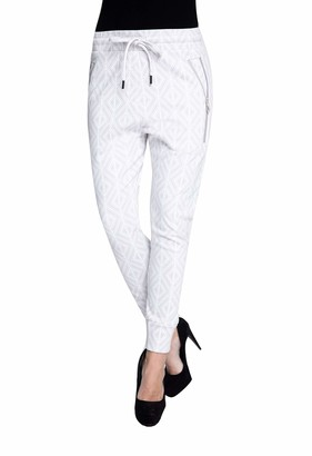 Zhrill Fabia Women's Jogging Bottoms Fabric Trousers Suit Trousers Tapered Cropped Slim Fit - Black - XL