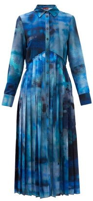 Altuzarra Vivian Paint-print Crepe Midi Shirt Dress - Blue Multi
