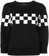 DSQUARED2 check detail sweatshirt - women - Polyurethane/Viscose - XS