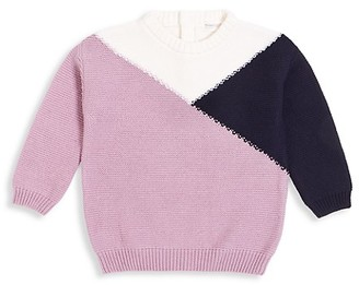Miles Baby Little Girl's Colorblock Knit Sweater