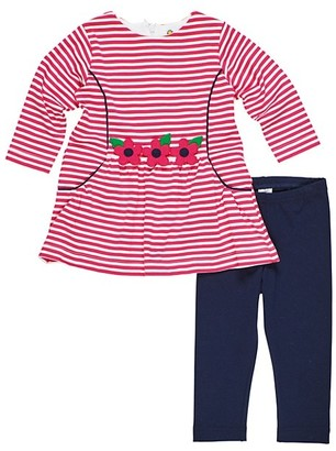Florence Eiseman Baby's & Little Girl's Striped Floral Top & Leggings Set
