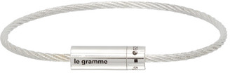 Le Gramme Silver Slick Polished Le 7 Grammes Cable Bracelet