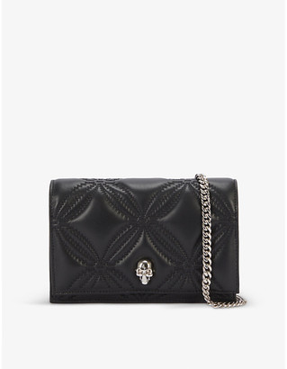 Alexander McQueen Skull quilted leather cross-body bag