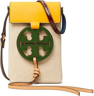 Tory Burch Miller Leather & Canvas Phone Crossbody Bag
