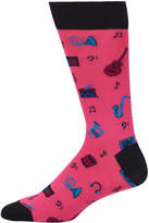 Bugatchi Men's Music Icon Crew Socks