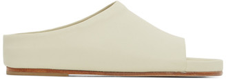 LAUREN MANOOGIAN Off-White Mono Flat Sandals
