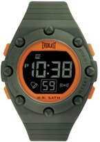 Everlast Unisex Digital Watch with LCD Dial Digital Display and Green PU Strap EV-506-007