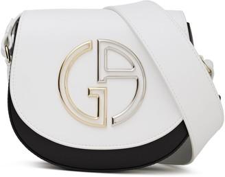 Giorgio Armani Logo-embellished Two-tone Leather Shoulder Bag