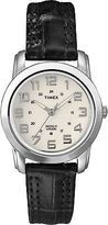 Timex Women's Elevated Classic Silver-Tone Case Black Strap Watch Quartz T2N435