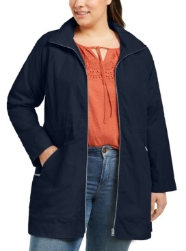 Style&Co. Style & Co Plus Size Hooded Packable Anorak Jacket, Created for Macy's