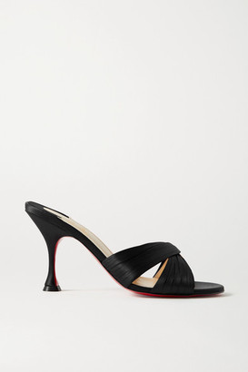 Christian Louboutin Nicol Is Back 85 Satin Mules - Black