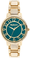 Style&Co. Style & Co. Women's Gold-Tone Bracelet Watch 34mm SY018GT, Only at Macy's