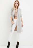 Forever 21 Longline Wool-Blend Coat