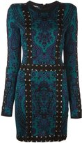Balmain baroque lace-up effect dress