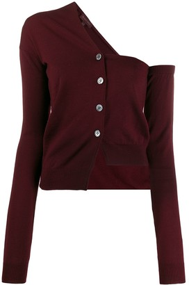 Romeo Gigli Pre-Owned 1990s Single-Shoulder Buttoned Cardigan