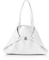 Akris White Cervocalf Ai Small Shoulder Bag