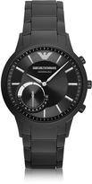 Emporio Armani Connected Black PVD Stainless Steel Hibrid Men's Smartwatch