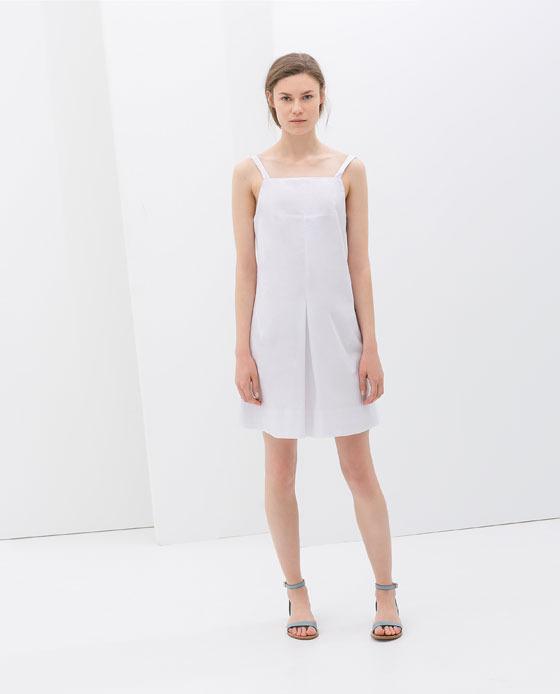 Zara Poplin Dress With Straps