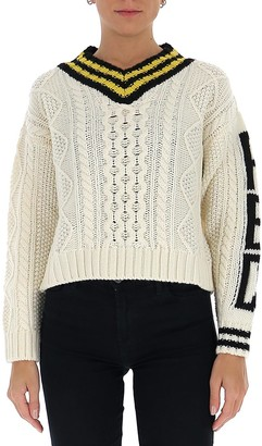 RED Valentino V-Neck Knit Sweater