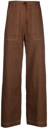Pinko Wide-Leg Cropped Trousers