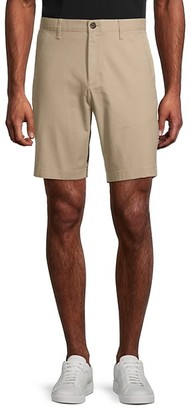 Michael Kors Solid Stretch-Cotton Shorts