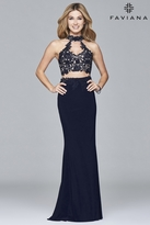 Faviana 7967 Jersey two-piece with lace top