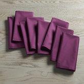 Crate & Barrel Fete Violet Cloth Napkin Set of Eight
