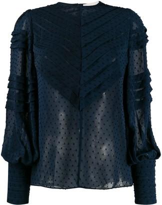 Zimmermann Sabotage Folded Tuck blouse