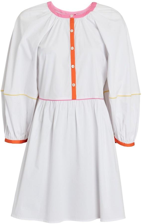 STAUD Demi Mini Poplin Dress