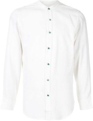 Lisa Von Tang Band Collar Shirt