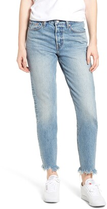 Levi's Wedgie Icon Fit Raw Hem Jeans