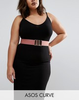 Asos Pink Rose Gold Elastic Waist Belt