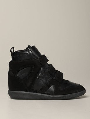 Isabel Marant Sneakers In Leather And Suede With Wedge