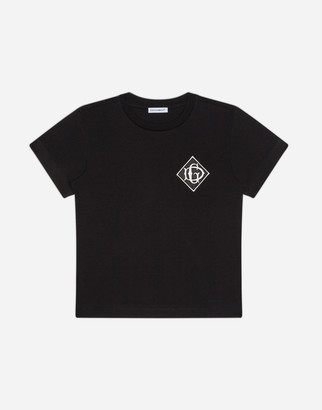 Dolce & Gabbana Jersey T-Shirt With Satin Detail