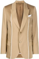 Neil Barrett Contrast Trim Single-Breasted Blazer