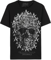 Philipp Plein Lincoln Skull-embellished Cotton T-shirt
