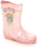 Kidorable Pink The English Roses Rain Boot - Toddler & Kids