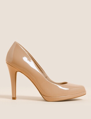 Marks and Spencer Patent Stiletto Heel Court Shoes