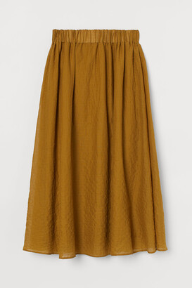 H&M Bell-shaped pima cotton skirt